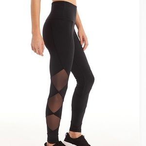 MARIKA HIGH WAISTED MESH DETAIL ATHLETIC LEGGINGS